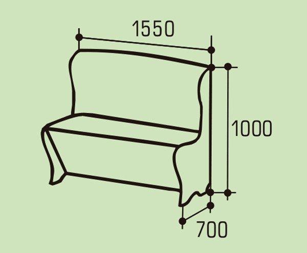 """Мягкий кухонный диван """"Гранд"""""""