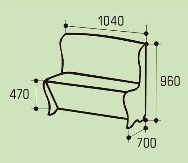 """Мягкий кухонный диван """"Модерн"""""""