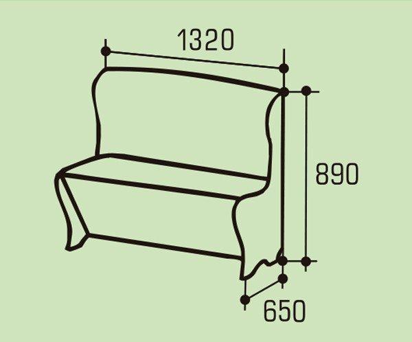 """Мягкий кухонный диван """"Моцарт"""""""